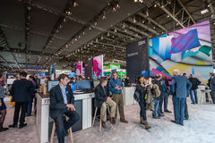 Booth of IBM company at CeBIT information technology trade show Royalty Free Stock Image
