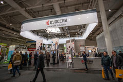 Booth of Kyocera company at CeBIT information technology trade show Stock Images