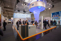 Booth of Landesk Software company at CeBIT Royalty Free Stock Images