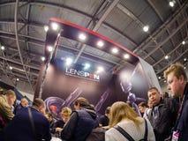 Booth of Lenspen company at PhotoForum 2017 trade show Stock Photography
