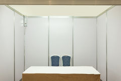 Booth with lighting. Inside the Trade show pavilion Stock Photography