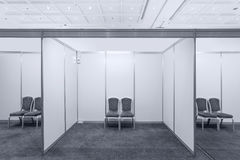 Booth with lighting Royalty Free Stock Image