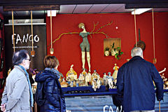 Booth in open air market 9 Royalty Free Stock Images