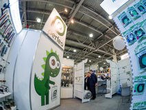 Booth of Perfeo company at PhotoForum 2017 trade show Royalty Free Stock Photo