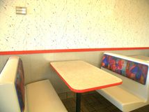 Booth, Restaurant, Fast Food Royalty Free Stock Images