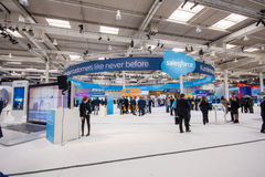 Booth of Salesforce company at CeBIT Stock Photography