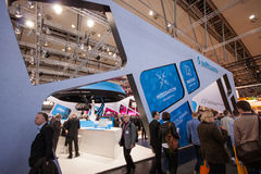 Booth of Software AG company at CeBIT Royalty Free Stock Images