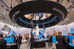 Booth of Software AG company at CeBIT Royalty Free Stock Photography