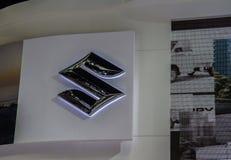 Booth Suzuki Car presenter  demonstrated Stock Photography