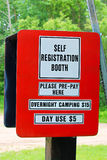 Booth to collect fees for camping and day use at a campground.  Royalty Free Stock Photography
