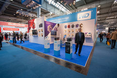 Booth of Western Digital company at CeBIT Royalty Free Stock Photos
