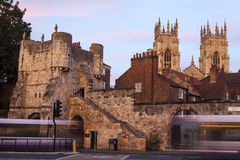 Bootham Bar and York Minster Stock Image