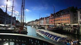 Boothaven in Kopenhagen Denemarken stock video
