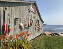Boothbay hamn, Maine Arkivfoto
