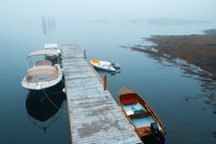 Boothbay hamnpir Fotografering för Bildbyråer