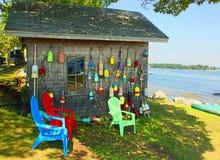 Boothbayhaven, Maine Royalty-vrije Stock Foto's