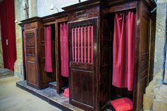Booths for confessions. royalty free stock images