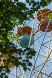 Booths old Ferris wheel closeup Royalty Free Stock Images