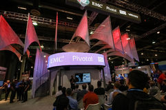 Booths of RSA, Pivotal and VMware companies at EMC World Stock Photo
