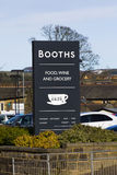 Booths Supermarket Royalty Free Stock Photography