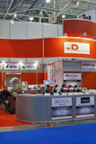 Booths of UkrDiagnostika distribution company Stock Images