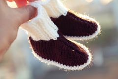 Booties for newborn Stock Photo
