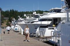 Bootjachthaven op het eiland van San Juan royalty-vrije stock fotografie