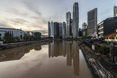 Bootkade in Loterijenplaats, Singapore stock fotografie