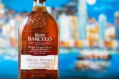 Bootle of Ron Barcelo - rum from the Dominican Republic produced by Ron Barceló S.R.L stock images