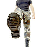 Bootom of army shoe Royalty Free Stock Photo
