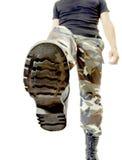Bootom de chaussure d'armée Photo libre de droits