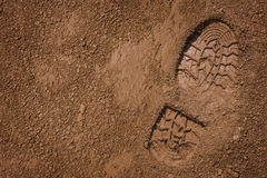 Bootprint On Mud Stock Images