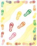 Bootprints Obrazy Stock
