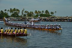 Bootras in Alapuzha, India (Nehru-Trofee 2017) royalty-vrije stock fotografie