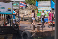 Bootreis op de Chao Phraya-rivier Stock Foto's