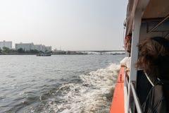 Bootreis op de Chao Phraya-rivier Royalty-vrije Stock Foto