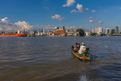 Bootreis op de Chao Phraya-rivier Royalty-vrije Stock Fotografie