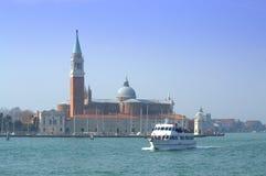 Bootrit in de lagune van Venetië royalty-vrije stock afbeelding