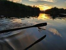 Bootrit op de rivier Stock Fotografie