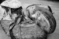 boots грязное Стоковые Фотографии RF