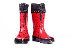 boots дети красный s стоковые фото