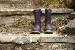 boots дождь s цвета детей Стоковое Фото