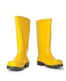 boots желтый цвет резины Стоковые Изображения RF