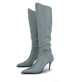 boots женщины s Стоковое Фото