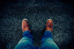 boots джинсыы Стоковая Фотография