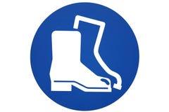 boots знак безопасности Стоковая Фотография RF