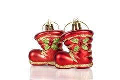 2 boots игрушки изолированные на белой предпосылке Стоковые Изображения RF
