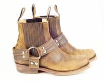 boots используемый ковбой страны Стоковая Фотография