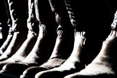 boots ковбой выровнянный вверх Стоковые Изображения RF