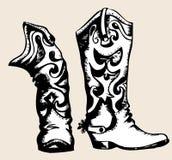 boots ковбой Стоковое Фото